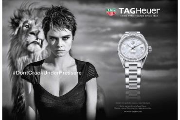 Cara Delevingne firma la nuova campagna TAG Heuer